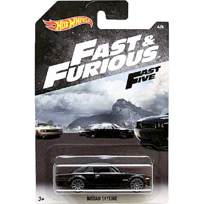 Velozes e Furiosos Hot Wheels Fast & Furious Fast Five Nissan Skyline 4/6 FKF13 escala 1/64