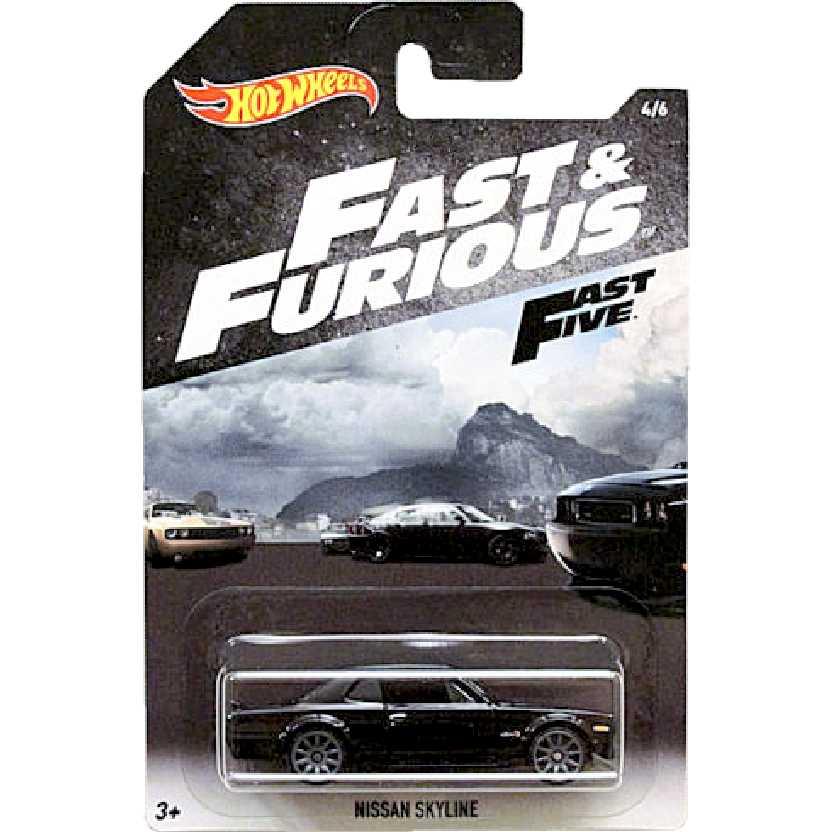 Velozes e Furiosos Hot Wheels Fast & Furious Fast Five Nissan Skyline 4/6 FKF13 escala 1/64