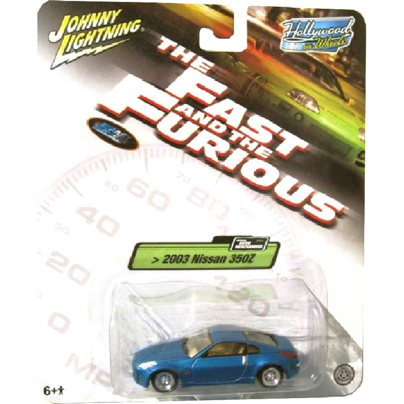 Velozes e Furiosos Nissan 350Z (2003) Hollywood on Wheels Johnny Lightning escala 1/64