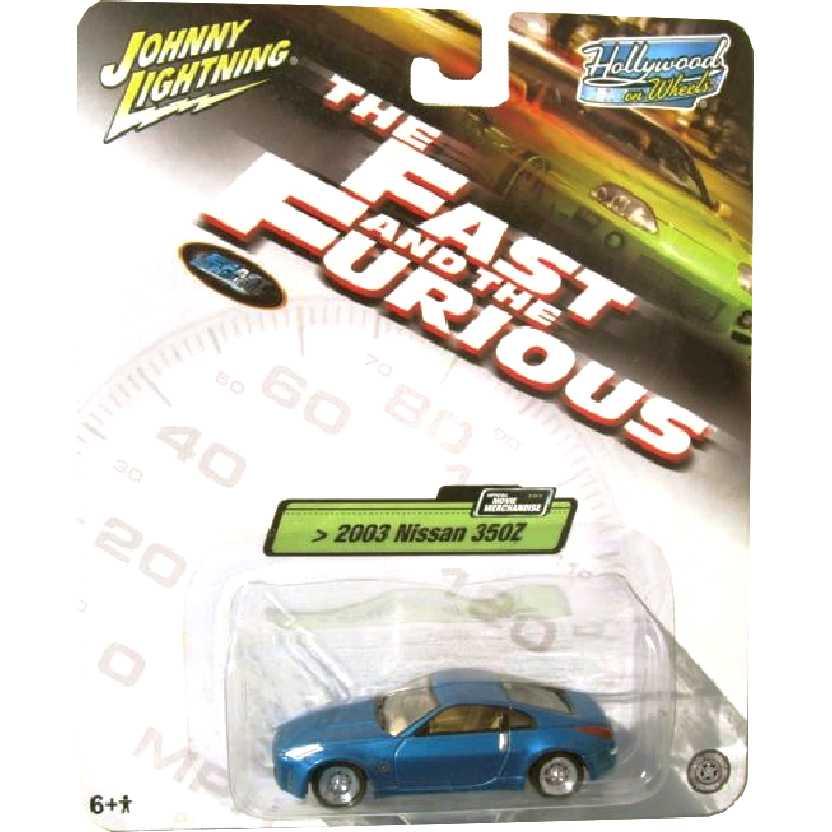 Velozes e Furiosos Nissan 350Z (2003) Hollywood on Wheels Johnny Lightning escala 1/64
