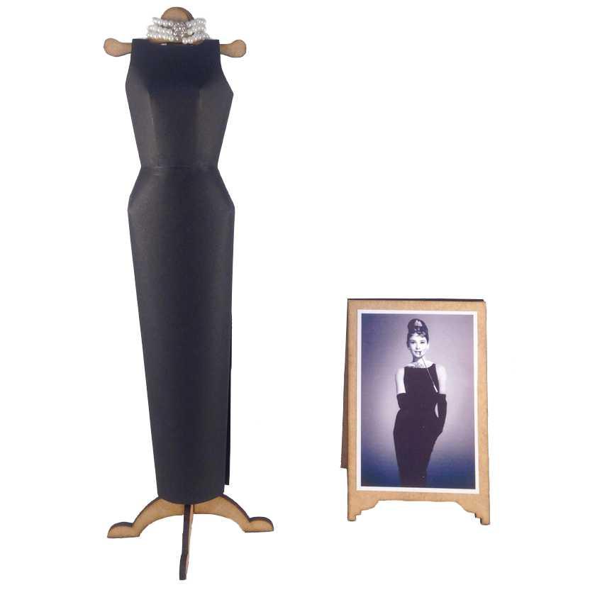 Vestido de papel da Audrey Hepburn Bonequinha de Luxo (Breakfast at Tiffanys)