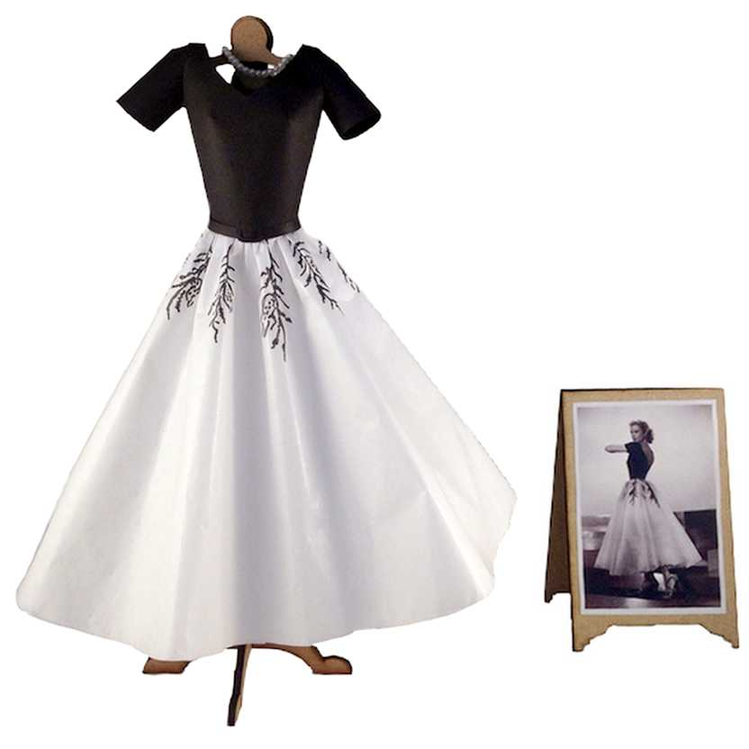 Vestido de papel da Grace Kelly do filme Janela Indiscreta (Rear Window)