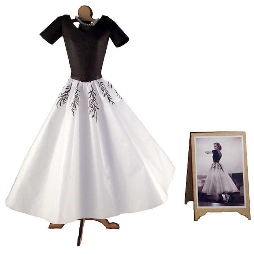 Vestido de papel da Grace Kelly do filme Janela Indiscreta (Rear Window)