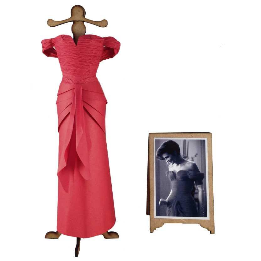 Vestido de papel da Julia Roberts Uma Linda Mulher (Pretty Woman)