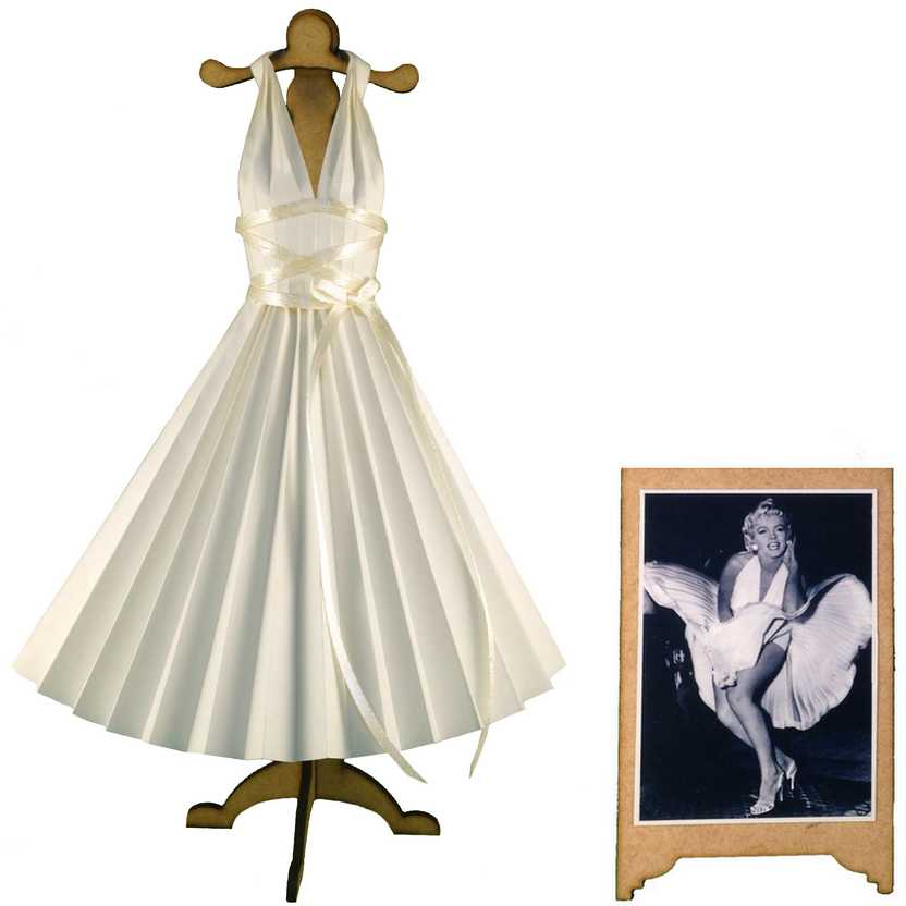 Vestido de papel da Marilyn Monroe O Pecado Mora ao Lado (The Seven Year Itch)