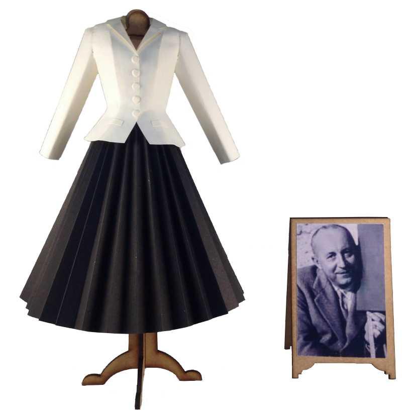 Vestido de papel de Christian Dior (1947 New Look)