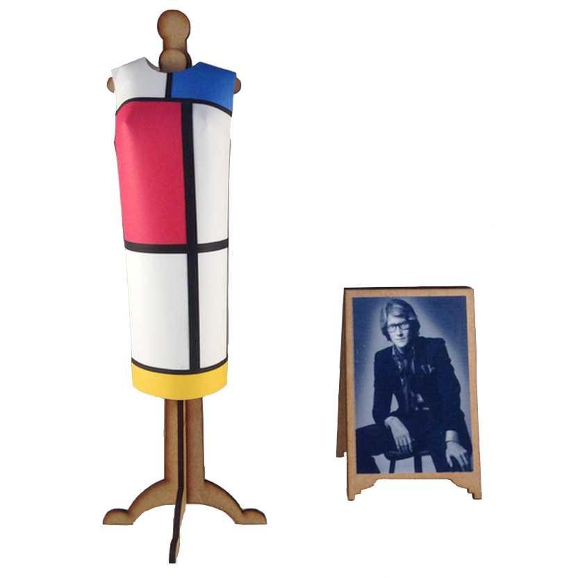 Vestido de papel de Yves Saint Laurent (1965) The Mondriaan Collection