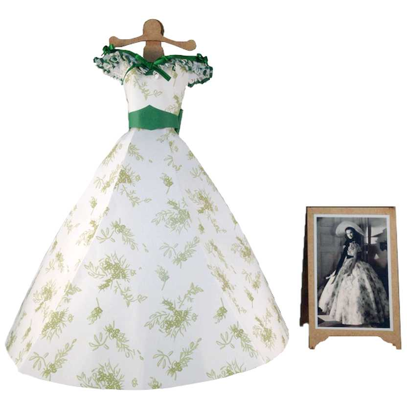 Vestido de papel floral da Scarlett O Hara E o Vento Levou (Gone with The Wind)
