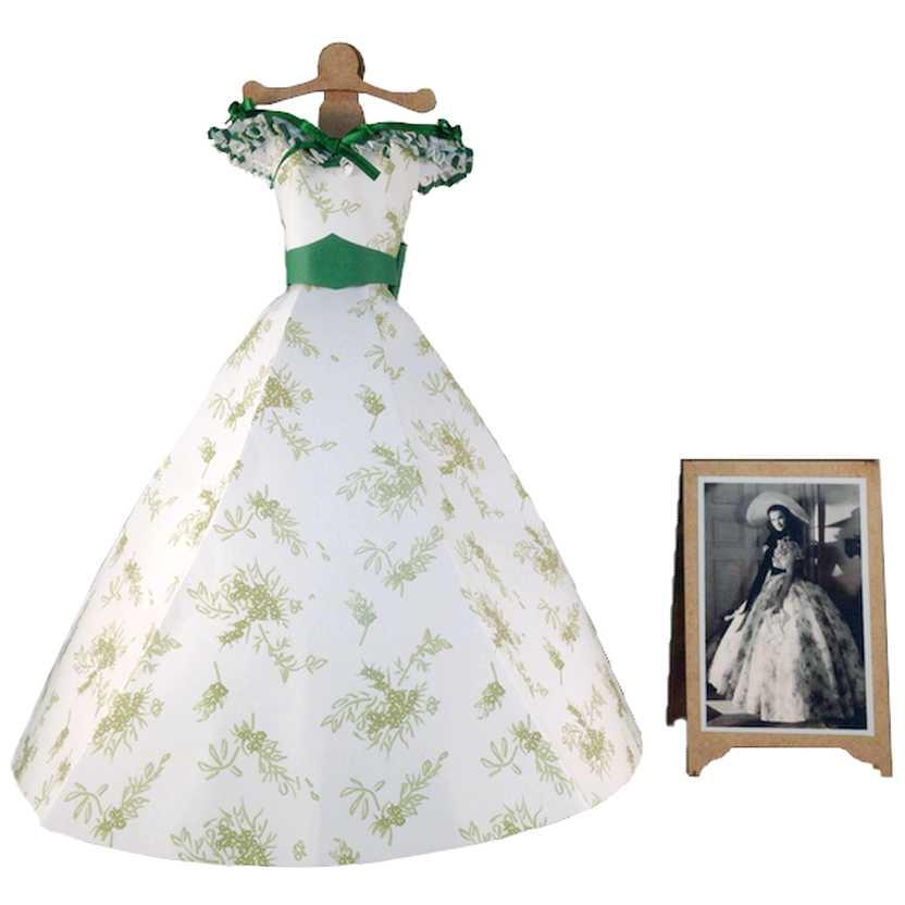 Vestido de papel floral da Scarlett O Hara E o Vento Levou (Gone with The Wind)