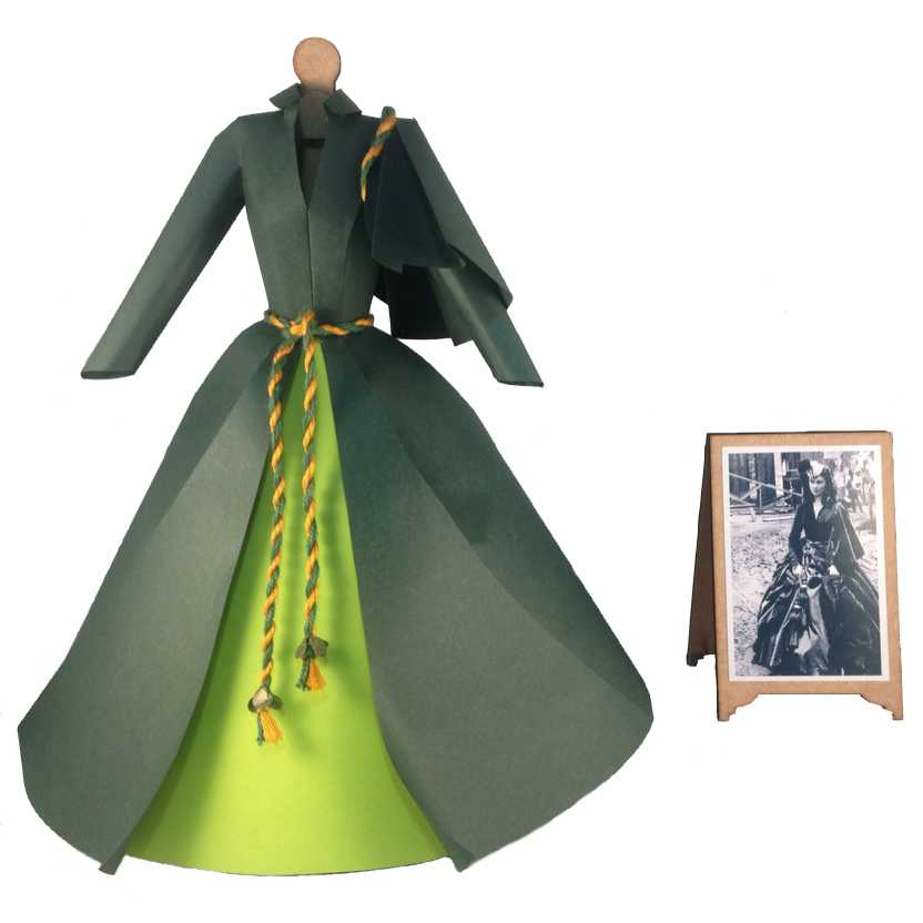Vestido verde de papel da Scarlett O Hara E o Vento Levou (Gone with The Wind)