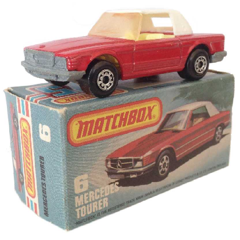 Vintage 1973 Matchbox anos 70 Lesney Antigo 75 #6 Mercedes Tourer escala 1/64