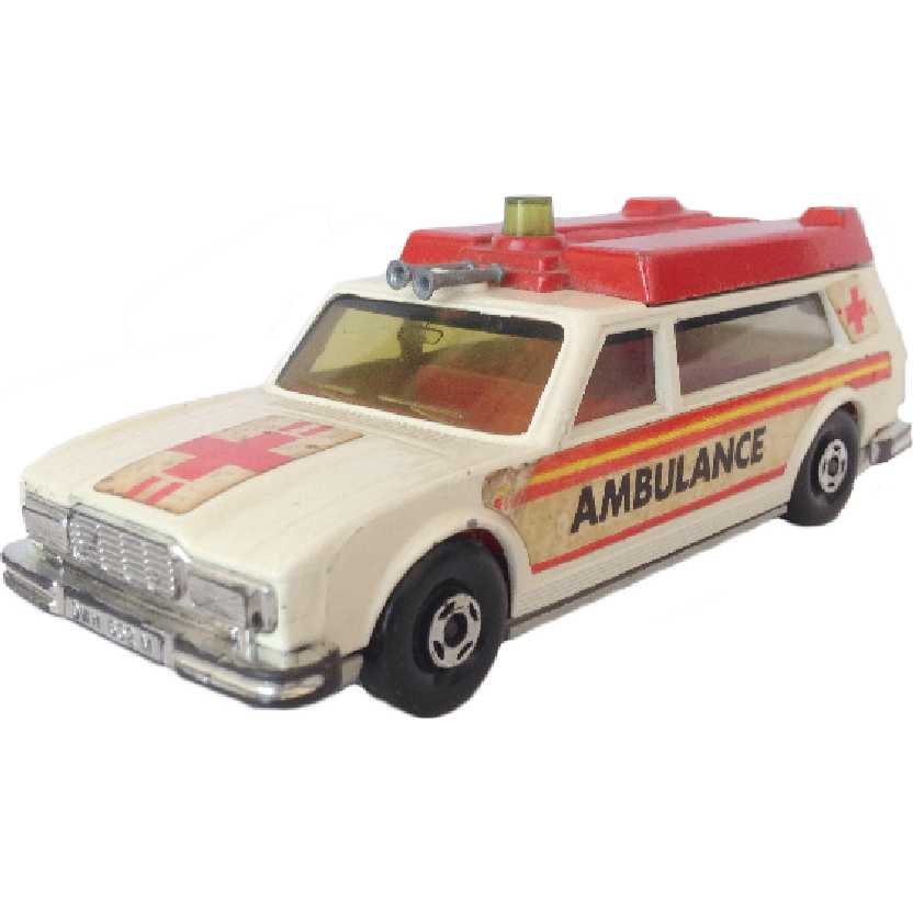 Vintage 1974 Matchbox antigo anos 70 Super Kings Ambulance K-49 (no estado)