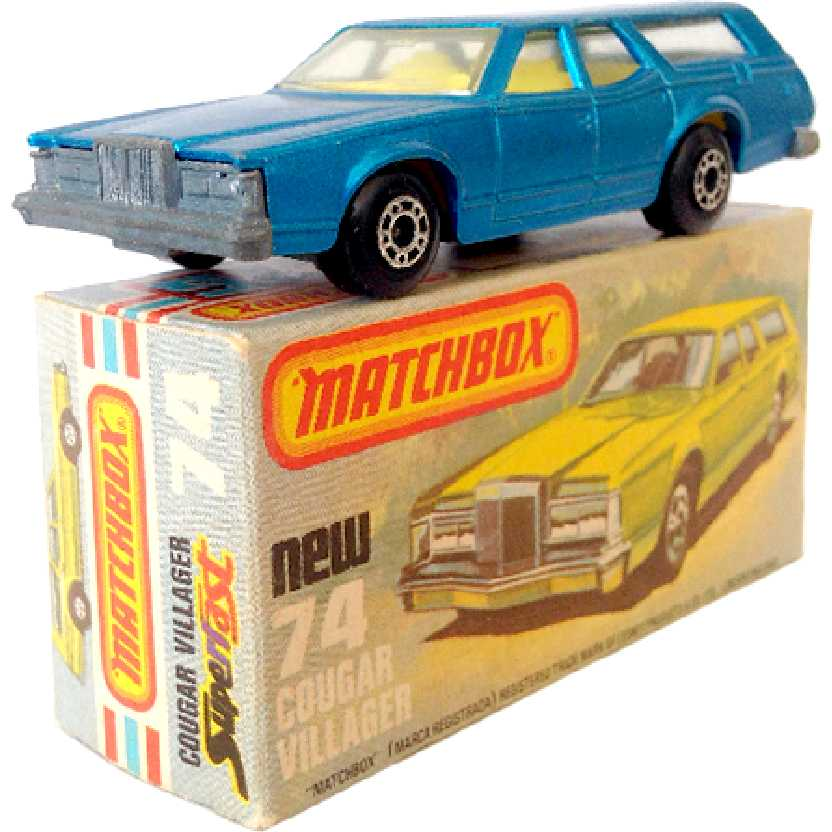 Vintage 1978 Matchbox anos 70 Lesney Antigo 74 Cougar Villager escala 1/64