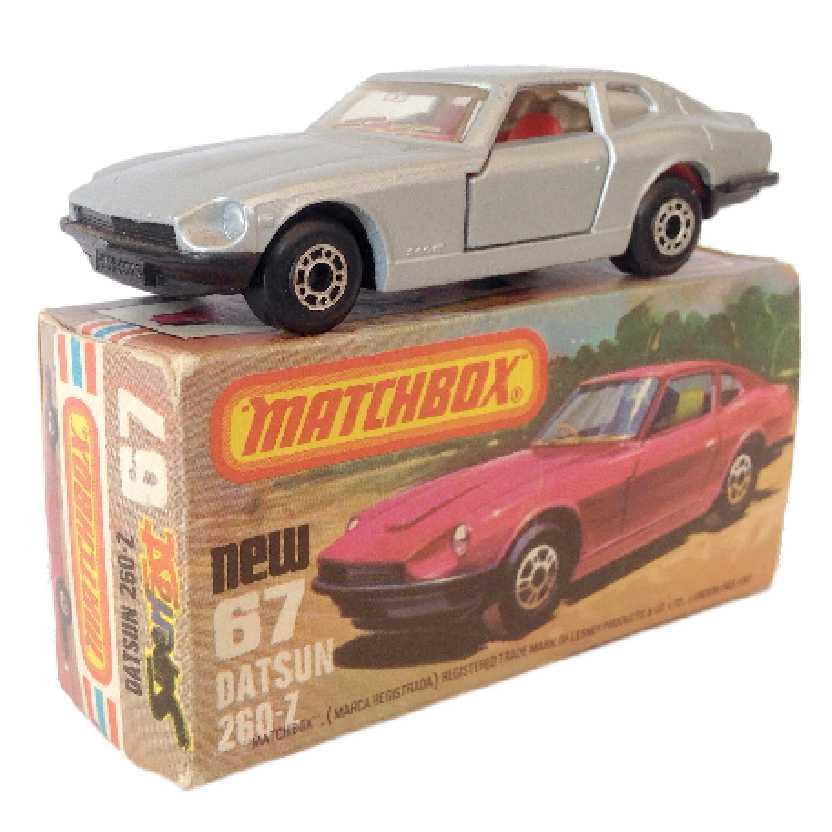Vintage 1978 Matchbox anos 70 Lesney Antigo 75 #67 Datsun 260-Z 2+2 escala 1/64