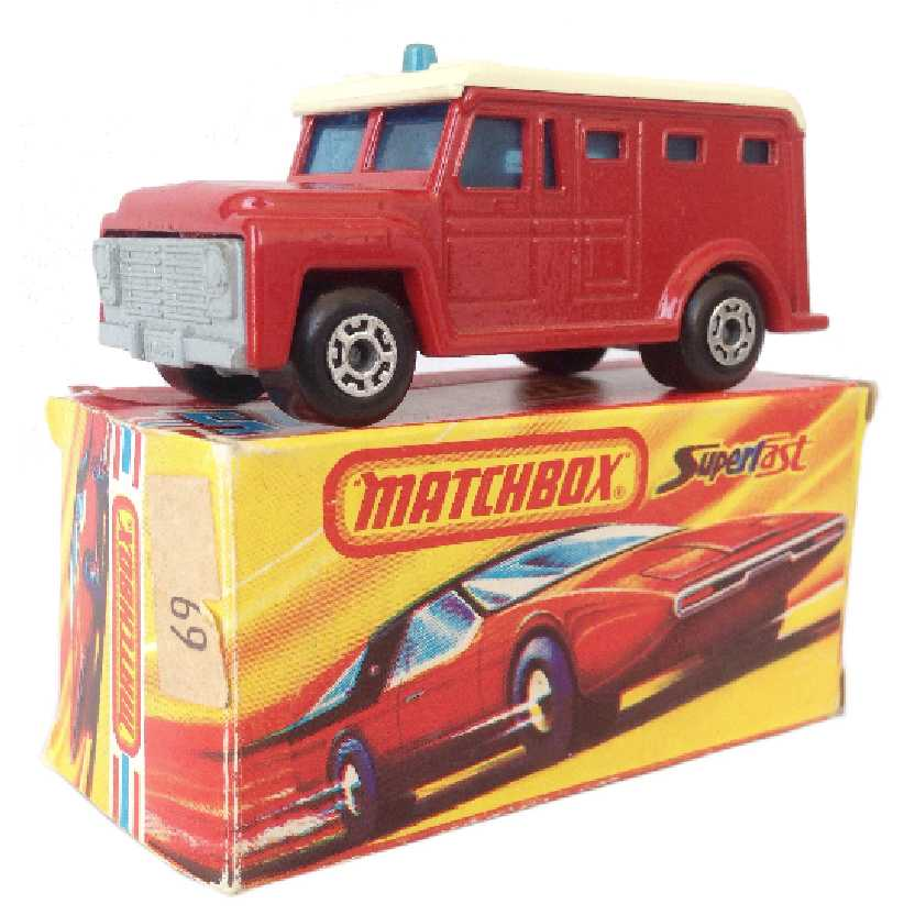 Vintage 1978 Matchbox Lesney Antigo 75 #69 Armored Truck (carro forte) escala 1/64