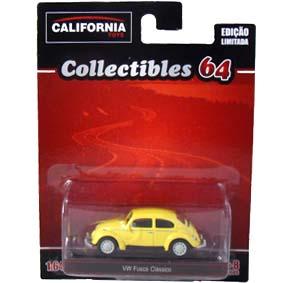 Volkswagen Beetle VW Fusca escala 1/64 Greenlight California Toys Collectibles