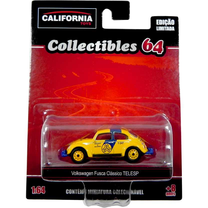 Volkswagen Fusca clássico da TELESP California Toys Collectibles series 2 escala 1/64