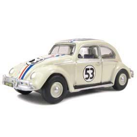 Volkswagen Fusca do filme Herbie (1953) VW Beetle com caixa de acrílico escala 1/76