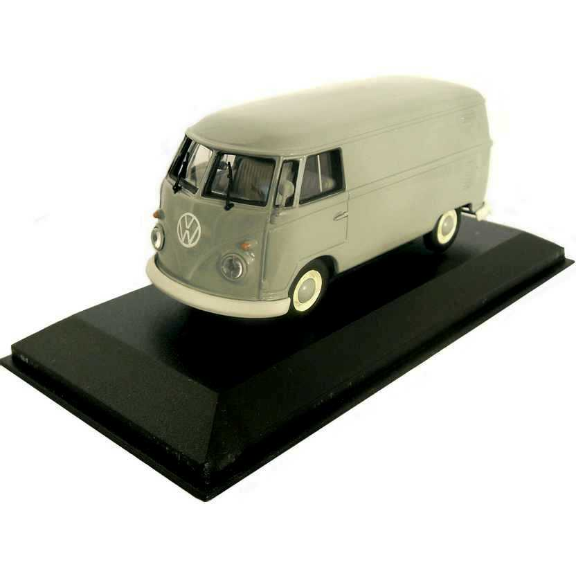 Volkswagen Kombi cinza (1963) VW Delivery Van marca Minichamps escala 1/43