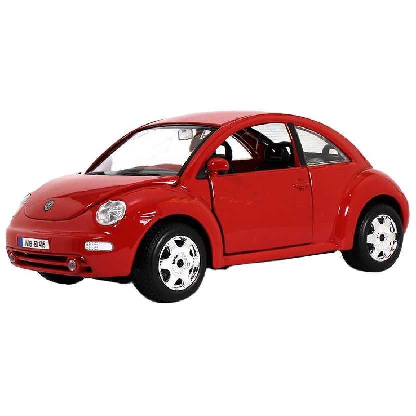 Volkswagen New Beetle vermelho marca Bburago escala 1/24