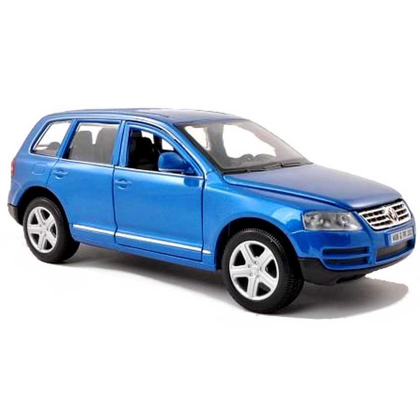 Volkswagen Touareg cor azul marca Bburago escala 1/24
