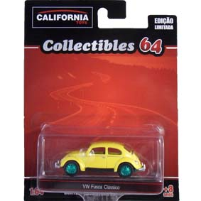 VW Beetle Fusca escala 1/64 Greenlight Green Machine California Toys Collectibles