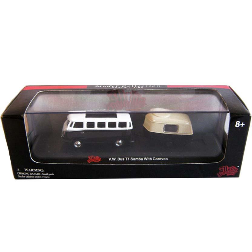 VW Bus T1 (Kombi)l com trailer -  Malibu Enternational LTD escala 1/87