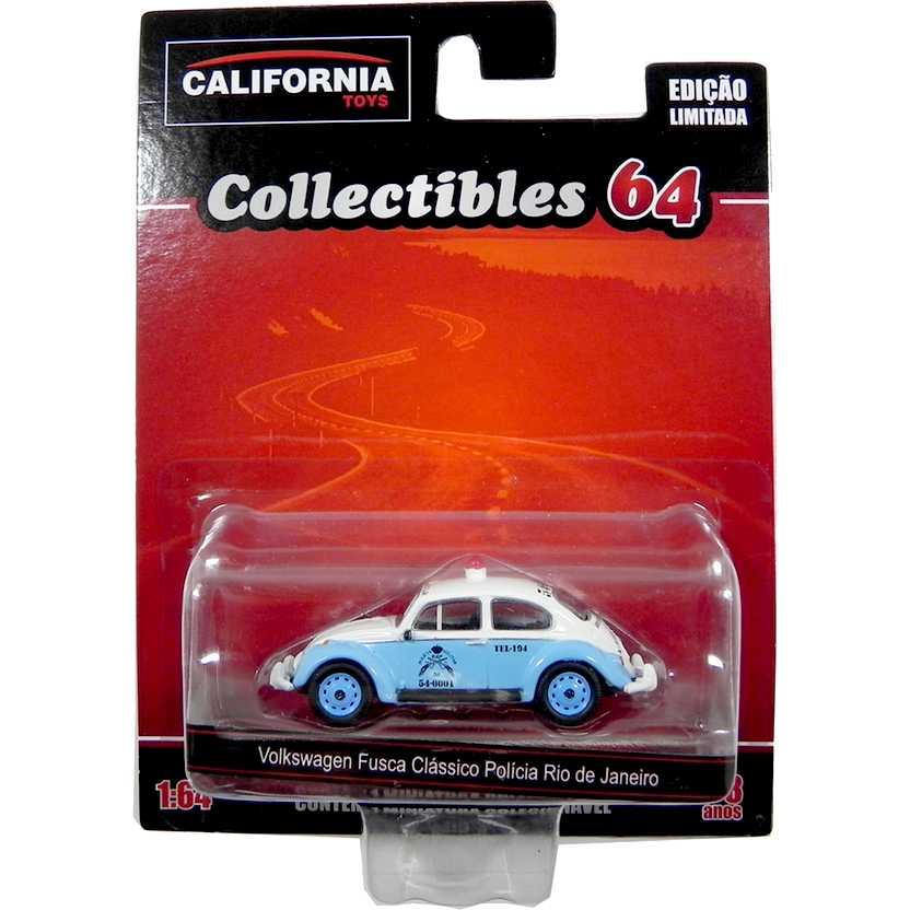 VW Fusca clássico da Polícia Rio de Janeiro California Collectibles series 2 escala 1/64