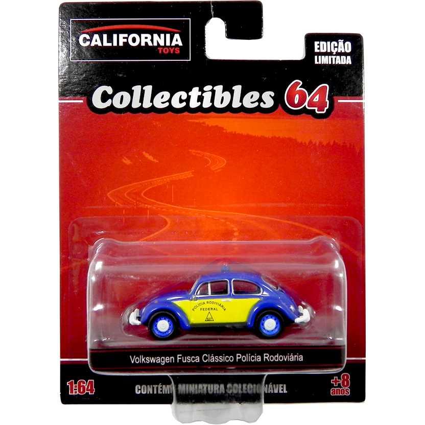 VW Fusca clássico da Polícia Rodoviária California Toys Collectibles series 2 escala 1/64