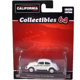 VW Fusca Taxi de São Paulo escala 1/64 Greenlight California Toys Collectibles