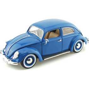 VW Kafer - Miniatura de Fusca Azul (1955) Burago escala 1/18
