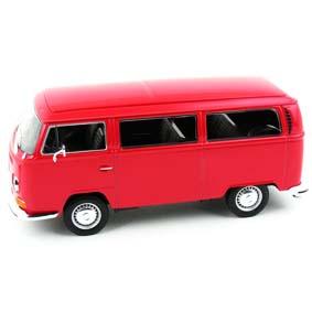 VW Kombi (1972) Bus T2 marca Welly escala 1/24