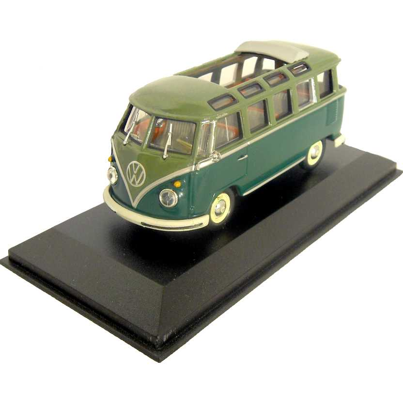 VW Kombi com teto solar - Volkswagen T1 Samba Bus marca Minichamps escala 1/43