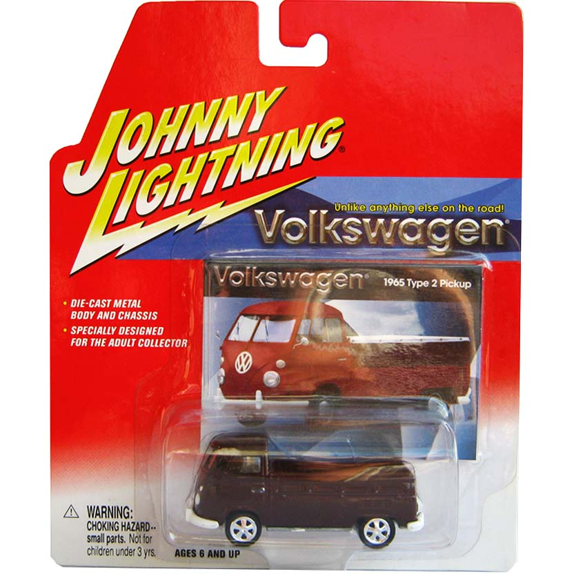 VW Kombi pick up vinho (1965) Volkswagen Type 2 Pickup Johnny Lightning escala 1/64