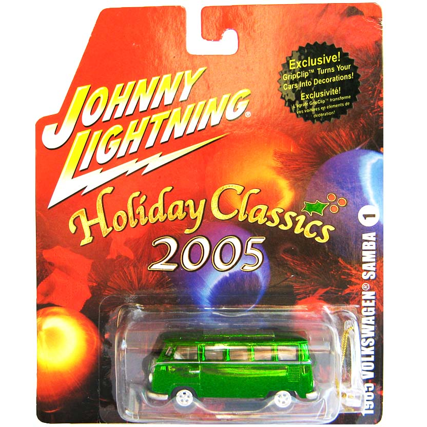 VW Kombi verde (1965) VW 21 Window Samba Bus Holiday Classics 2005 Johnny Lightning 1/64