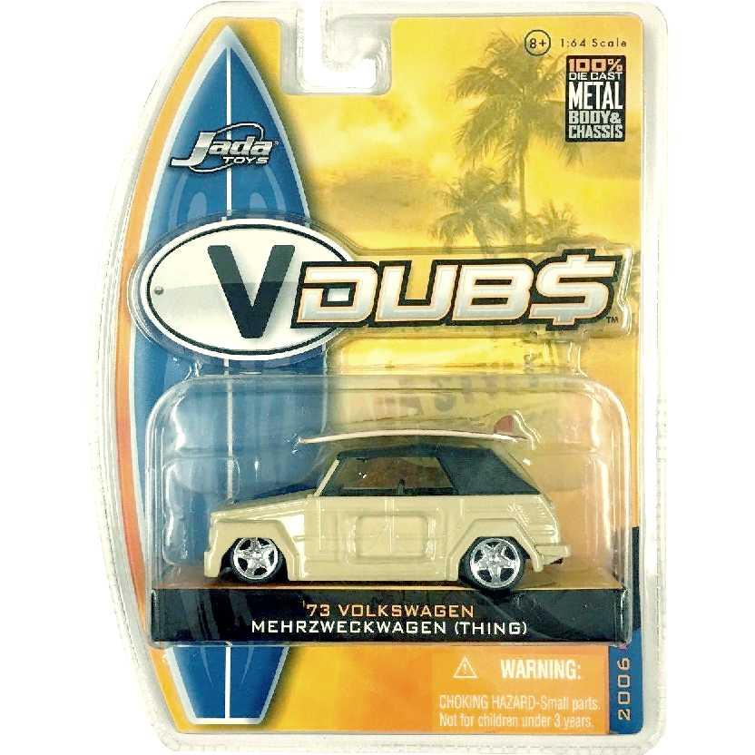 VW Thing com prancha de surf (1973) VW Mehrzweckwagen VDUBS Jada Toys escala 1/64