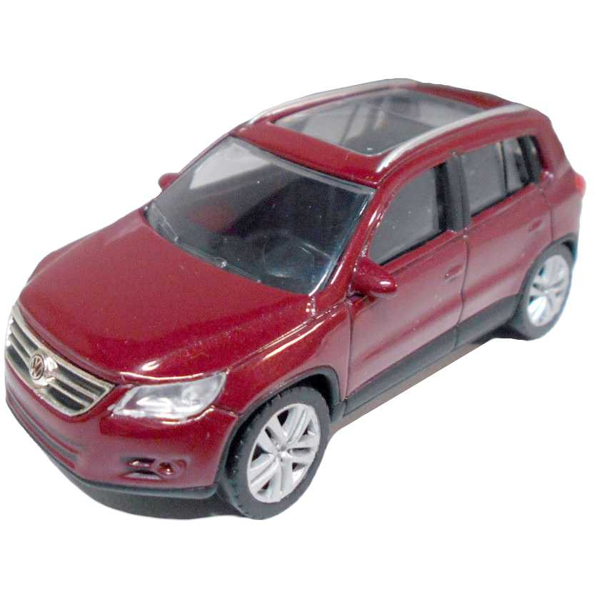 VW Tiguan vermelho metálico com retrovisores marca Norev escala 1/64