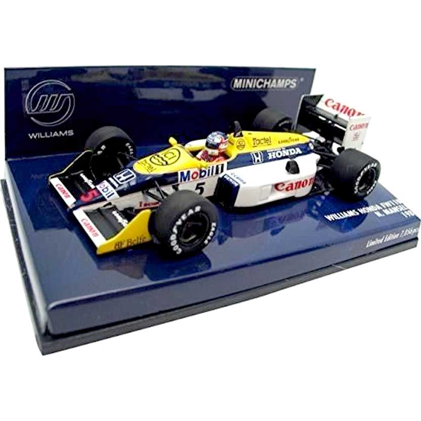 Williams Canon Honda FW11B Nigel Mansell (1987) Minichamps escala 1/43