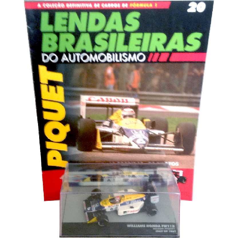 Williams Honda FW11B Nelson Piquet Lendas Brasileiras #20 do Automobilismo escala 1/43