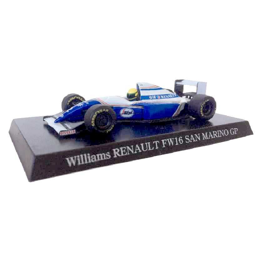 Williams Renault FW16 San Marino GP (1994) Ayrton Senna Aoshima escala 1/64