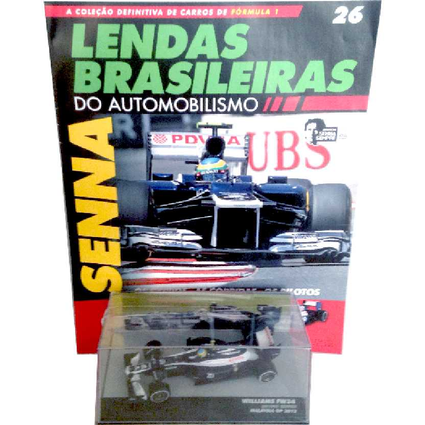 Willians FW34 Bruno Senna Lendas Brasileiras #26 do Automobilismo escala 1/43