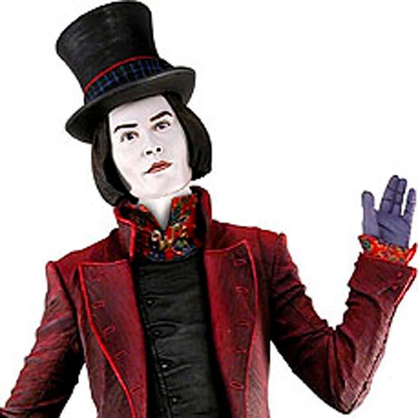 Willy Wonka com som (Tim Burton) Johnny Depp