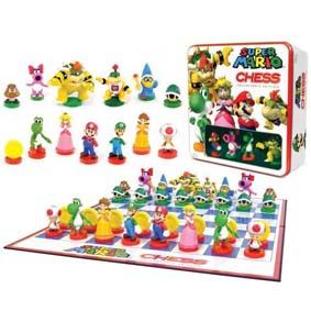 Xadrez do Super Mario Bros com 32 peças (cx. de lata)