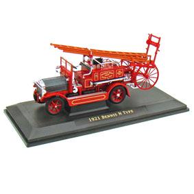 Yat Ming Diecast Miniatura de Caminhão Bombeiro Dennis N Type (1921)