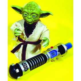 Yoda Interativo com sabre (aberto) 800 palavras